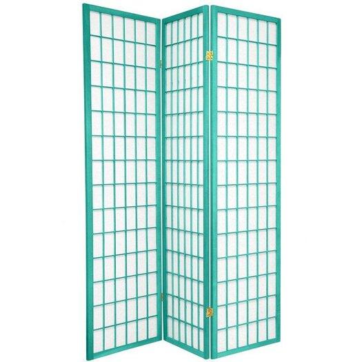 "Oriental Furniture 70"" x 42"" Window Pane 3 Panel Room Divider"