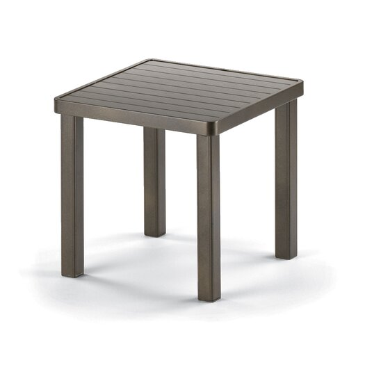 Telescope Casual 18'' Square Aluminum Slat End Table