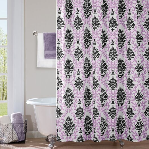 Mi-Zone Katelyn Microfiber Shower Curtain