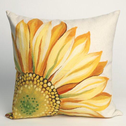 Liora Manne Sunflower Square Indoor/Outdoor Pillow