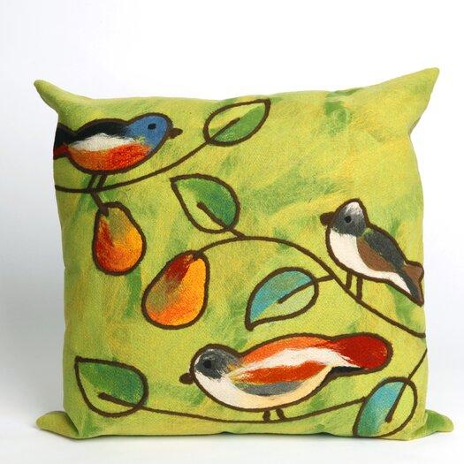 Liora Manne Song Birds Square Indoor/Outdoor Pillow