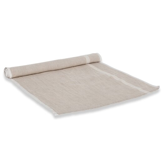 Couleur Nature Laundered Linen Stripe Table Runner