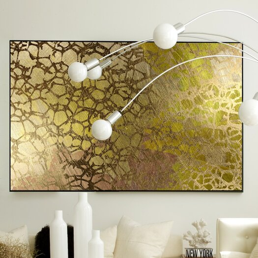 JORDAN CARLYLE Abstract Golden Nest Framed Graphic Art