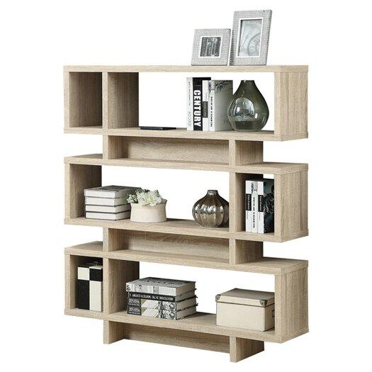 "Monarch Specialties Inc. Reclaimed Look Modern 55"" Bookcase"