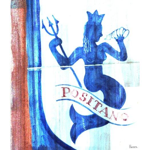 Positano Ocean Nymph Painting Print on Canvas