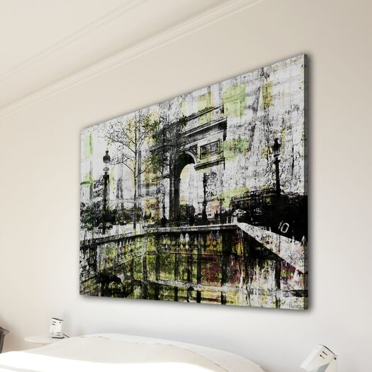 Parvez Taj Champs Elysees by Parvez Taj Graphic Art on Canvas