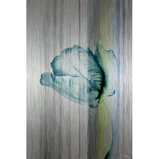 Water Flower - Art Print on Brushed Aluminum