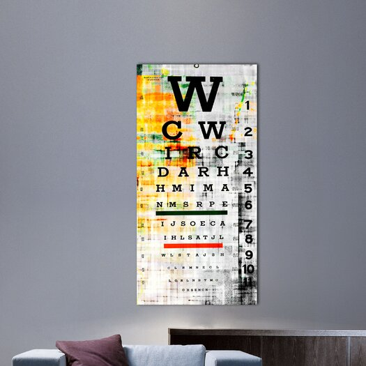 Parvez Taj Eye Chart - Art Print on Premium Canvas