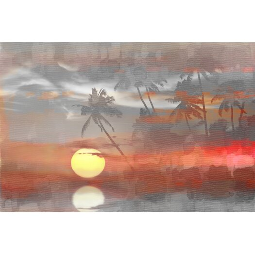 Paradise at Sunset Graphic Art on Wrapped Canvas