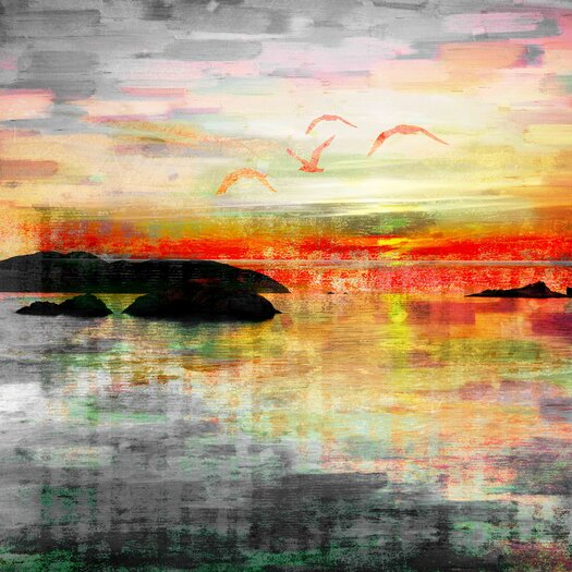 Birds in the Sunset Graphic Art on Wrapped Canvas
