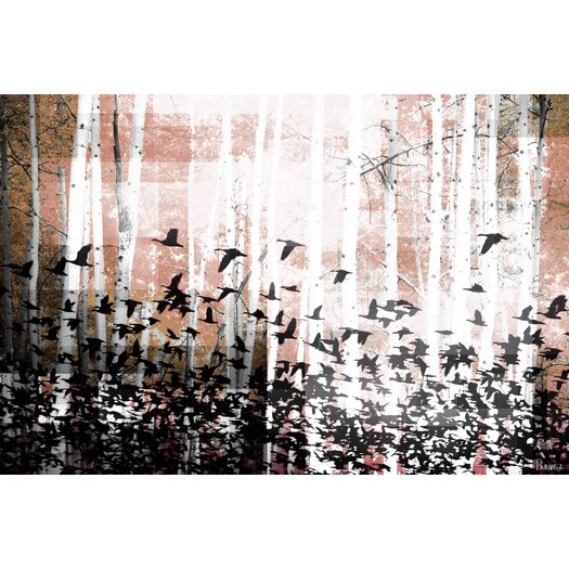 Aspen Wood Graphic Art on Canvas