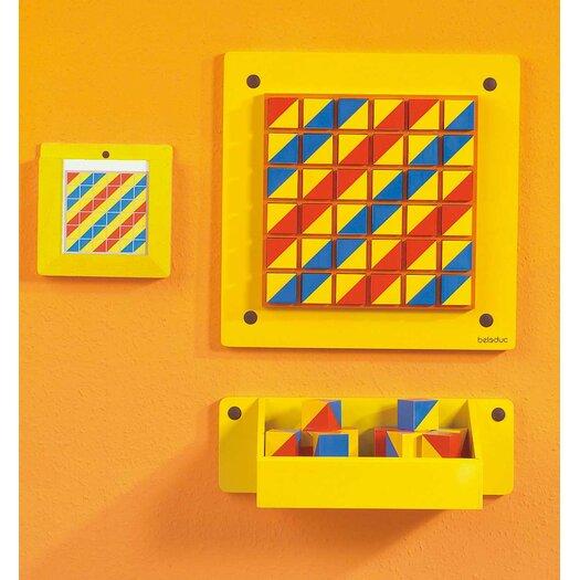 """HaPe Beleduc Patterns Wall Panel 1' 3.75"""" x 1' 3.75"""" Whiteboard"""