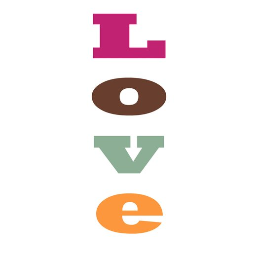 Secretly Designed L.O.V.E Paper Print