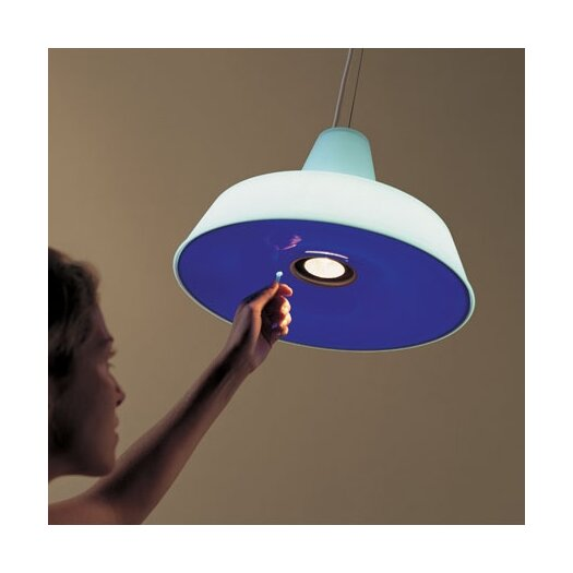 Rotaliana Officina H Pendant with Colored Glass