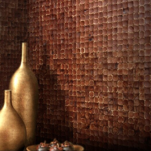 Cocomosaic Coconut Textured Mosaic in Brown Luster