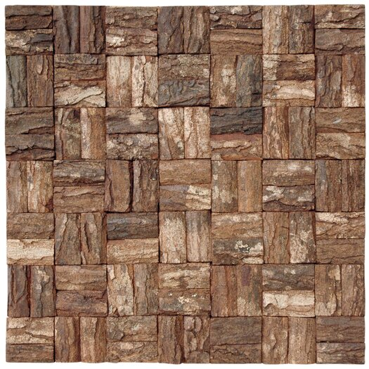 Cocomosaic Square Style Wooden Bark Mosaic Tile