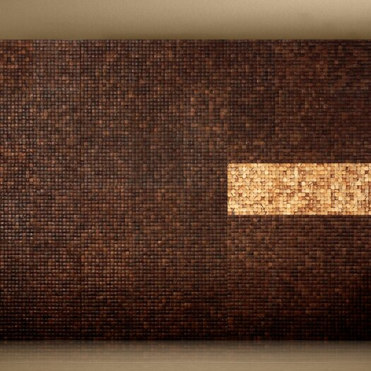 Cocomosaic Coconut Textured Mosaic in Espresso Grain