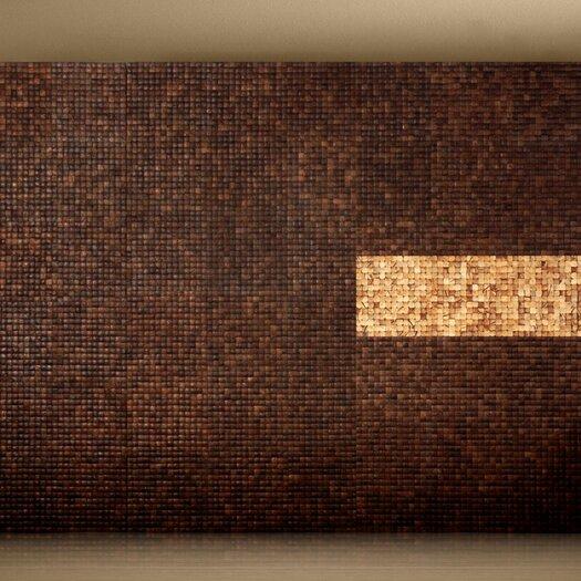 Cocomosaic Coconut Mosaic Tile in Espresso Grain