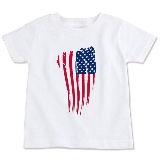 Spunky Stork USA Flag Organic T-shirt
