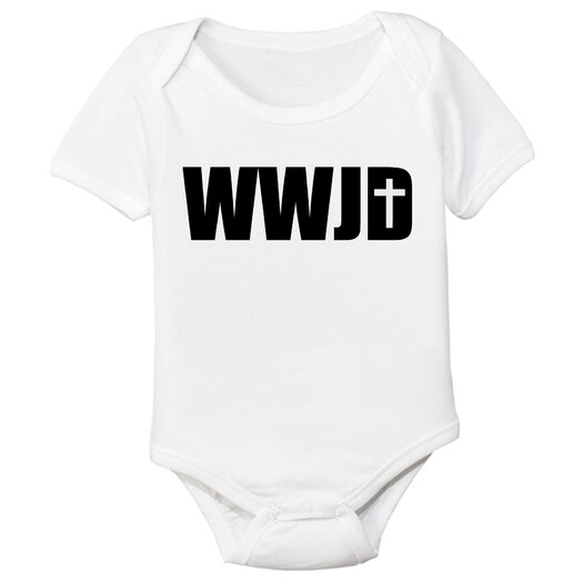 Spunky Stork What Would Jesus Do Organic Bodysuit