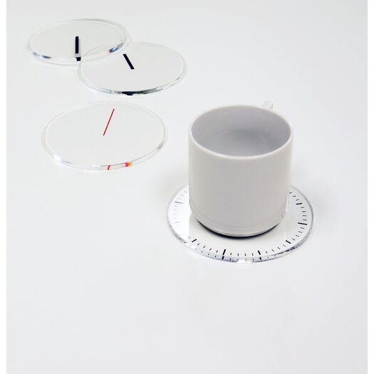 Molla Space, Inc. Timeless Clock Coasters