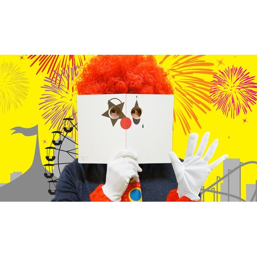 Molla Space, Inc. Clown Peeping Notebook