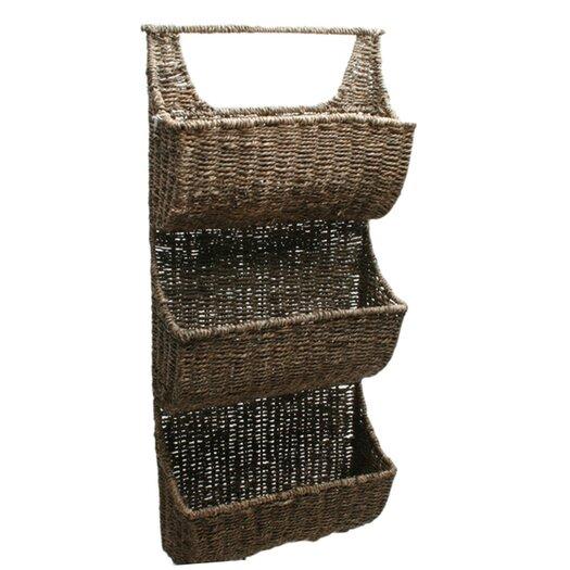 TAG Baskets Seagrass Three-Part Wall Basket