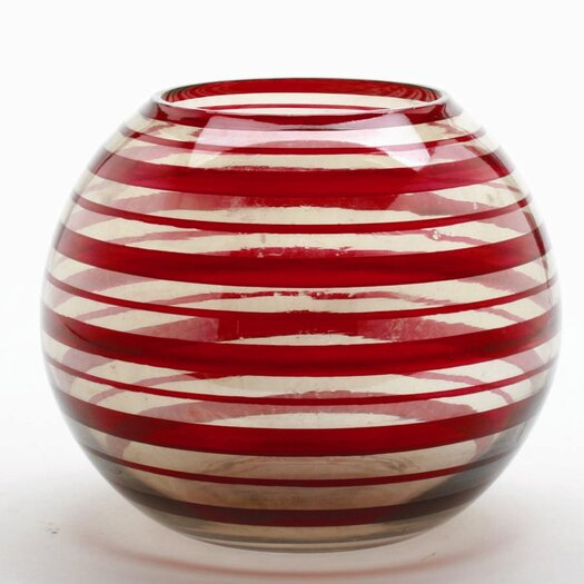TAG Holiday Celebration Swirl Glass Mini Pillar Holder