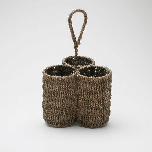 TAG Baskets Seagrass Three-Part Caddy