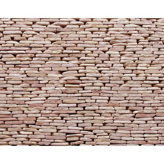 Solistone Standing Pebbles Random Sized Interlocking Mesh Tile in Rosettes