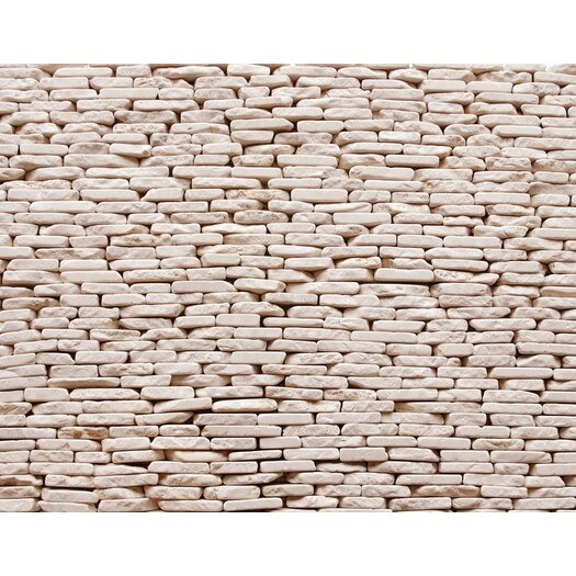 Solistone Standing Pebbles Random Sized Interlocking Mesh Tile in Pavilion
