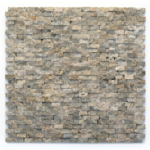 "Solistone Modern 1/2"" x 3/4"" Stone Unpolished Mosaic in Opera"