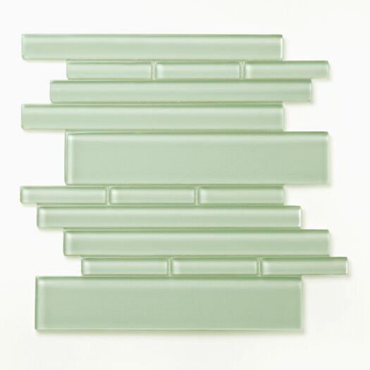 Solistone Piano Random Sized Interlocking Mesh Glass Tile in Symphony