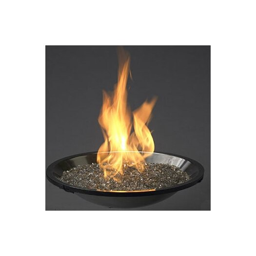 The Outdoor GreatRoom Company Crystal Fire Stainless Steel Fire Pit Burner