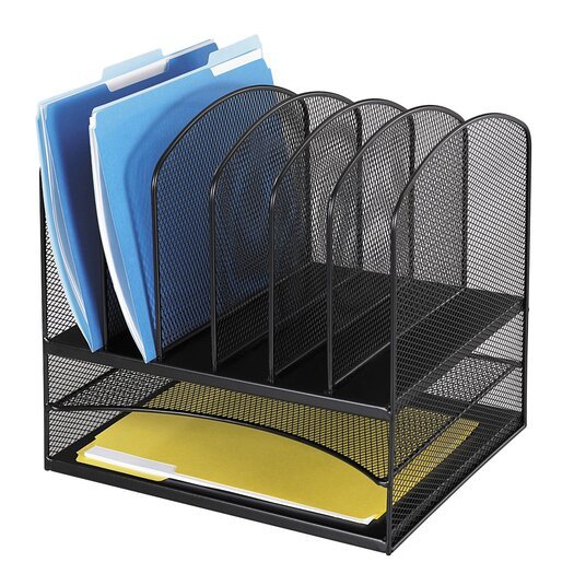 "Safco Products Company Mesh Desk Organizer, Eight Sections, 13.5"" Wide"