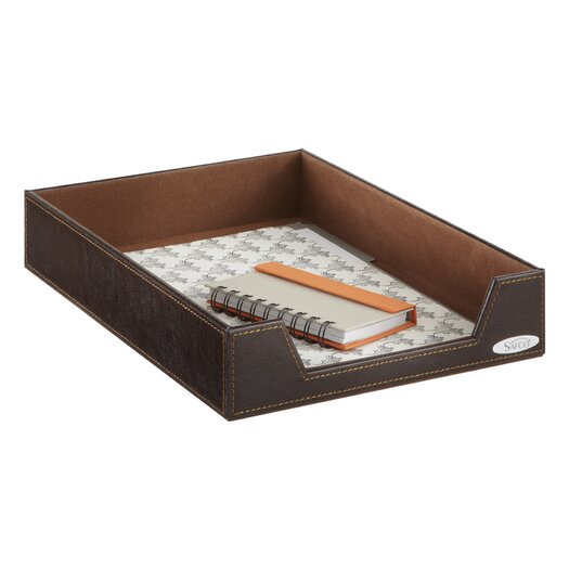 Safco Products Company Leather Look Single Letter Tray