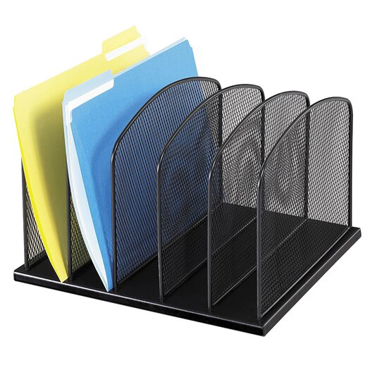 Safco Products Company 5 Section Mesh Upright Desk Organizer