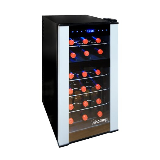 Vinotemp 18 Bottle Dual Zone Thermoelectric Wine Refrigerator