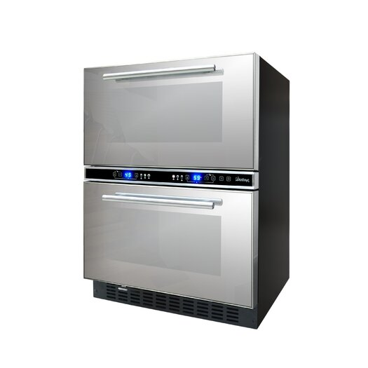 Vinotemp 21 Bottle Dual Zone Wine Refrigerator