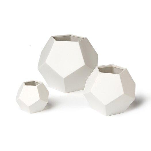 DwellStudio Faceted White Vase