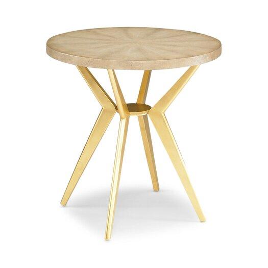 DwellStudio Odin Ivory Shagreen Side Table