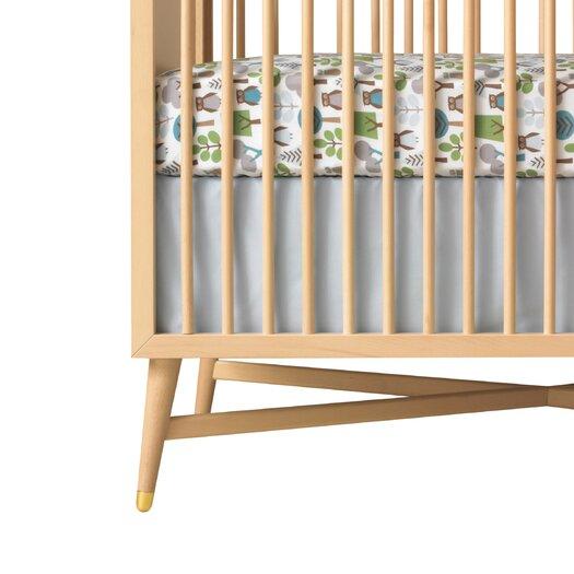 DwellStudio Solid Blue Canvas Crib Skirt