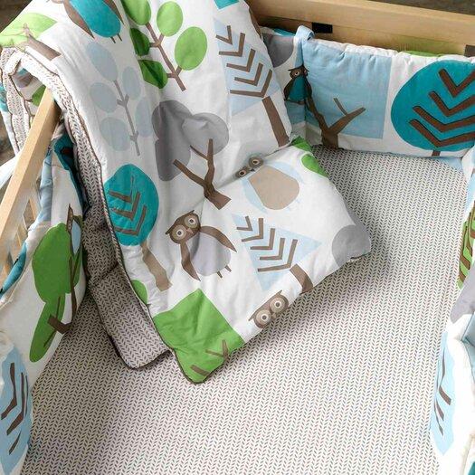 DwellStudio Owls Appliqué Canvas Bumper