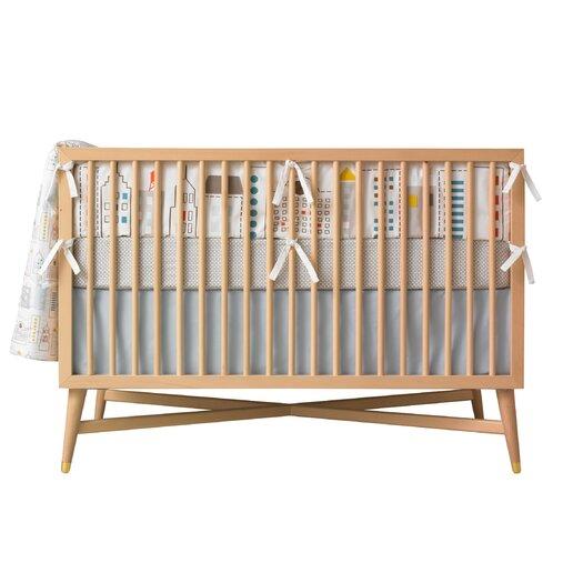 DwellStudio Squares Fitted Crib Sheet