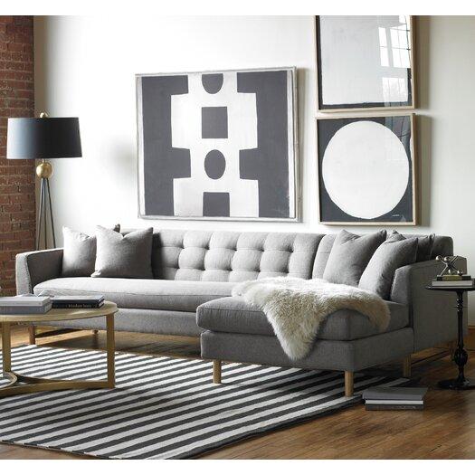 DwellStudio Edward Right Arm Chaise Sectional Sofa