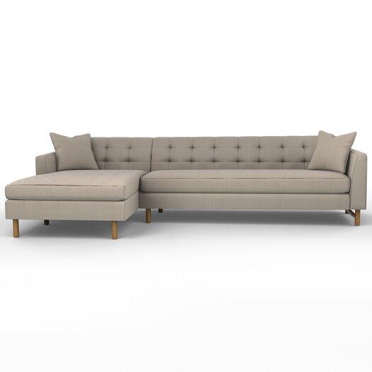DwellStudio Edward Left Arm Chaise Sectional Sofa
