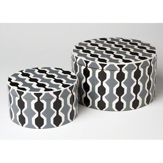 DwellStudio Chelsea Stripe Round Box