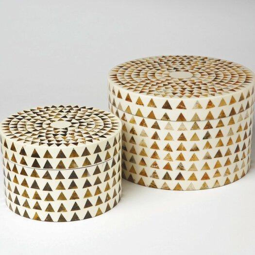 DwellStudio Triangle Stripe Boxes