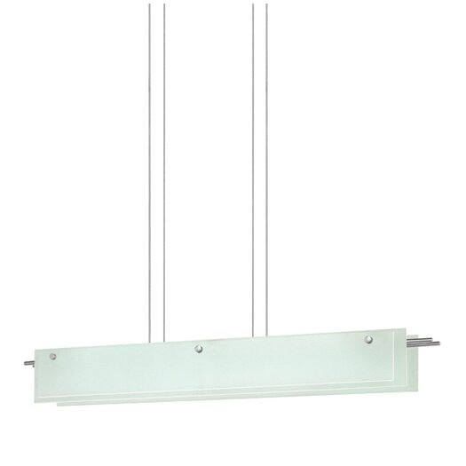 Sonneman Suspended Glass Kitchen Island Pendant