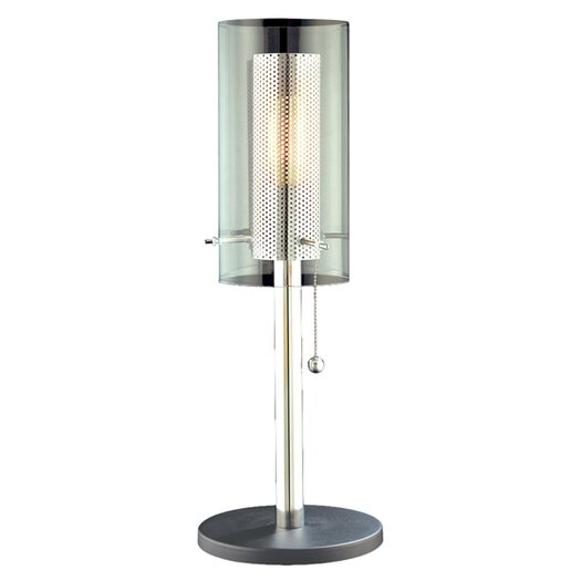 "Sonneman Zylinder 22.5"" H Table Lamp with Drum Shade"